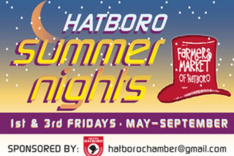 Hatboro Summer Nights —- Farmers Market & Cruise Nights & Food Drive
